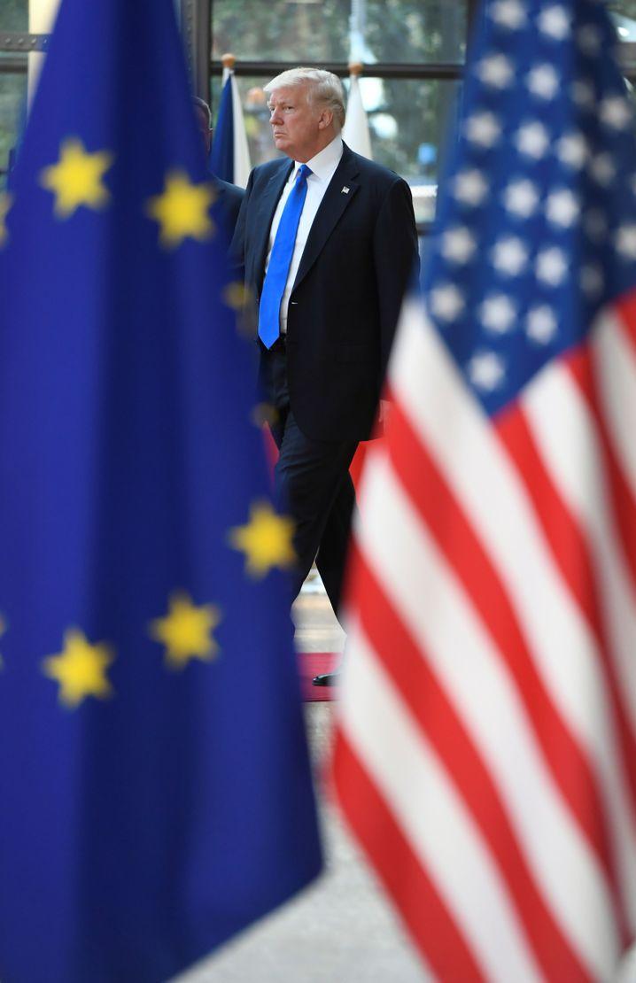 Präsident Trump in Brüssel