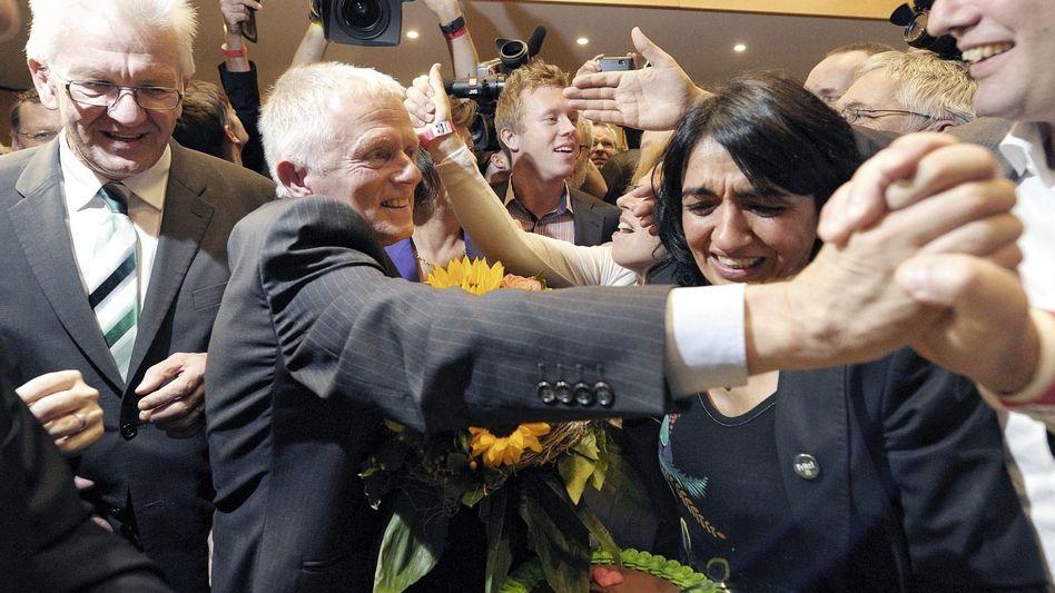 Ministerpräsident Kretschmann, designierter Stuttgarter Oberbürgermeister Kuhn(*): Etwas ist ins Rutschen geraten
