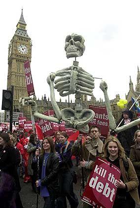 Karneval vor dem britischen Parlament
