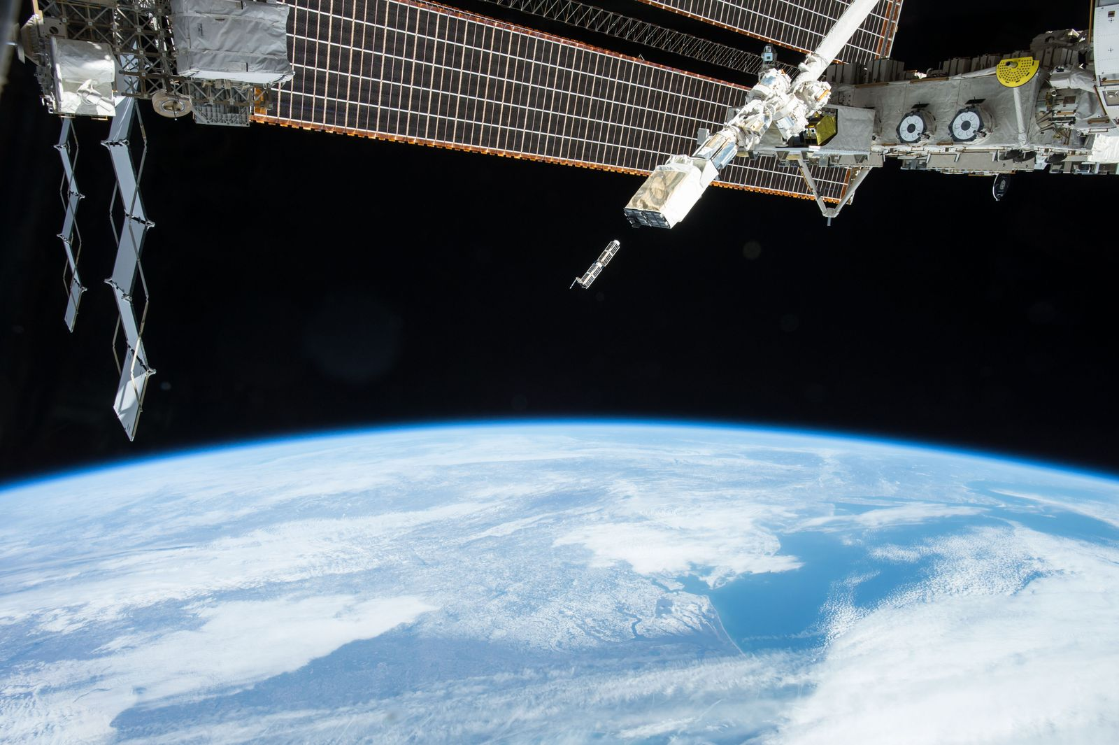 Nanorack deployment from the International Space Station