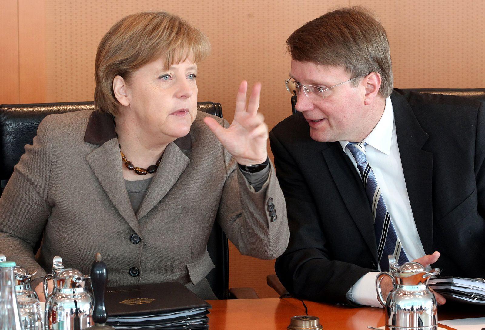 Kabinett - Merkel und Pofalla