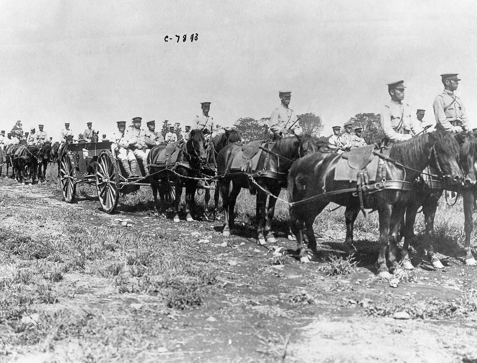 Japanese Troops on Horseback