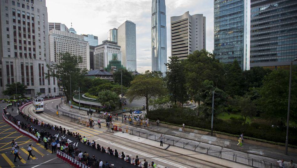 """Finanzviertel in Hongkong: Das Geld sei """"nicht mehr im Einflussbereich des Unternehmens"""""""