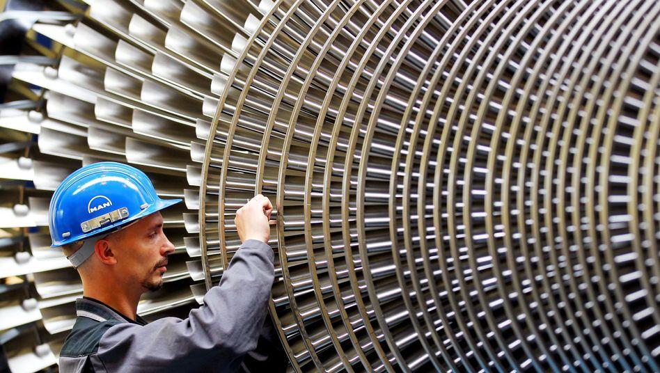 Archivbild aus dem Werk des Turbinenherstellers MAN-Turbo in Oberhausen
