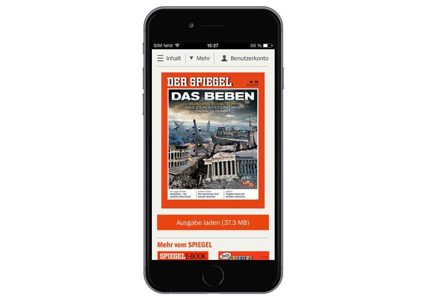 Screen SPIEGEL-App - Digitaler SPIEGEL 26/2015