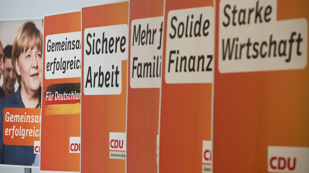 Photo Gallery: CDU Campaign Posters Play it Safe