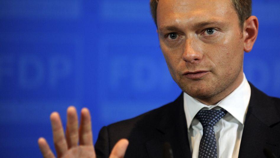 """FDP-Generalsekretär Lindner: kein """"Schweigegelübde"""" in der Debatte über Griechenland"""