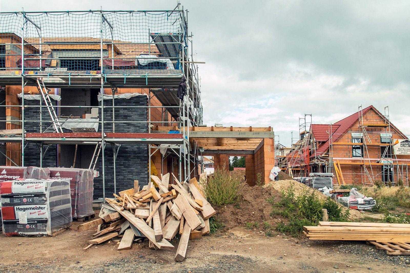 EINMALIGE VERWENDUNG Baustelle / Hausbau