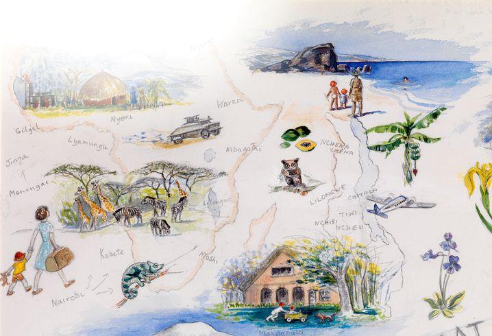 Eine Skizze von Jean Mary Vyvyan, Richard Dawkins Mutter