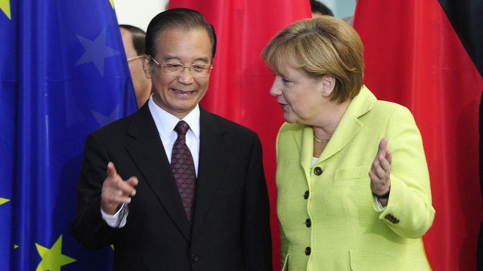 """Partner Wen, Merkel: """"Wir haben beide mittwochs Kabinettssitzung"""""""