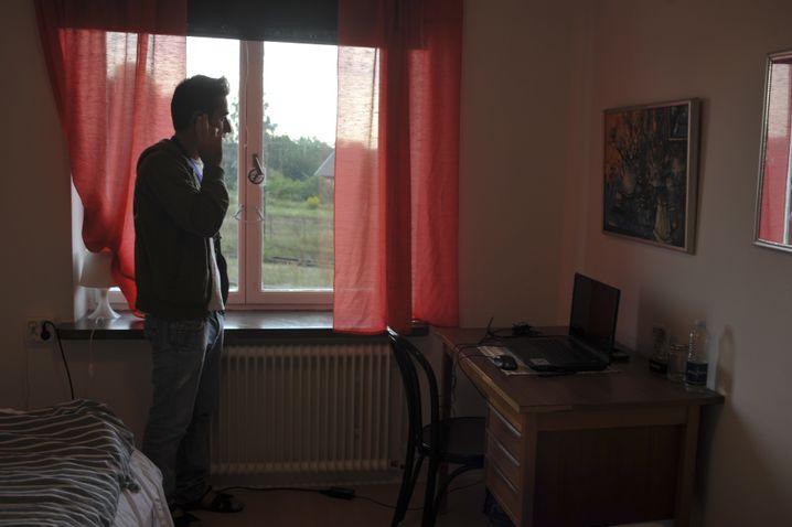 Syrischer Flüchtling in Koepingebro: Gut versorgt, aber nicht gebraucht