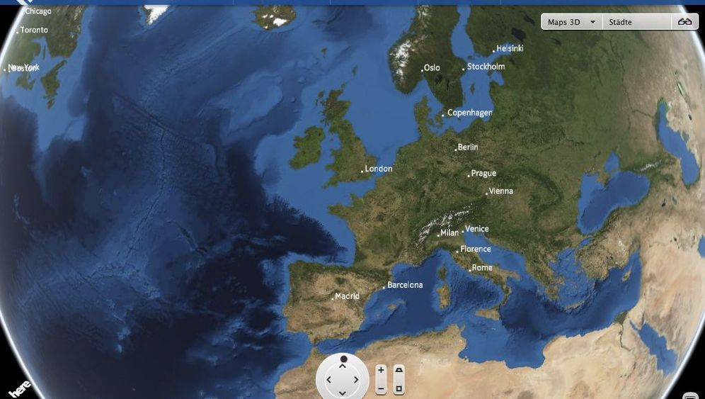 Nokia Here, Google Maps, OpenStreetMap: So sehen die digitalen Landkarten aus