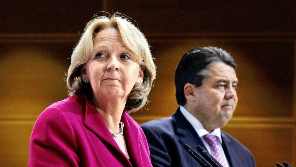 NRW-Landeschefin Kraft, Gabriel: Sorge um Chancen im Jahr 2013
