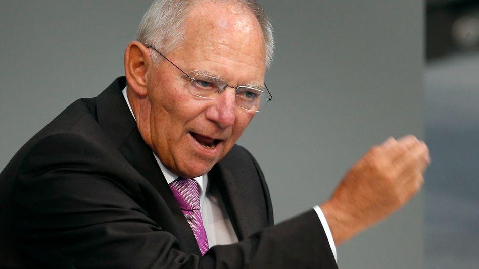 Finanzminister Wolfgang Schäuble: Steuererhöhungen nicht ausgeschlossen