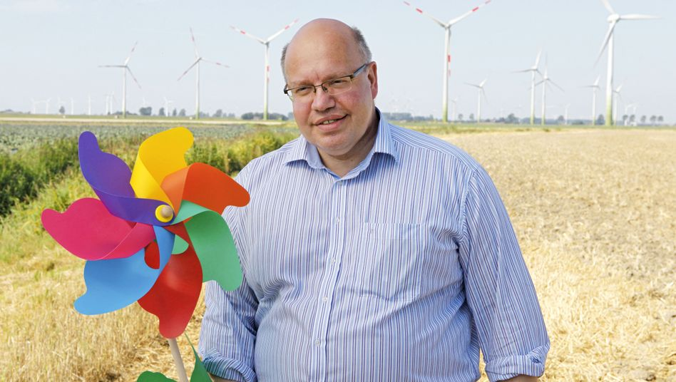 """German Environment Minister Peter Altmeier: """" I have personally greeted almost every wind turbine and solar panel in Germany."""""""