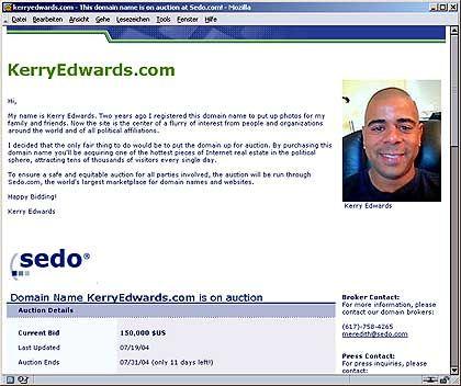 Glückspilz Edwards: Hofft auf mindestens 150.000 Dollar