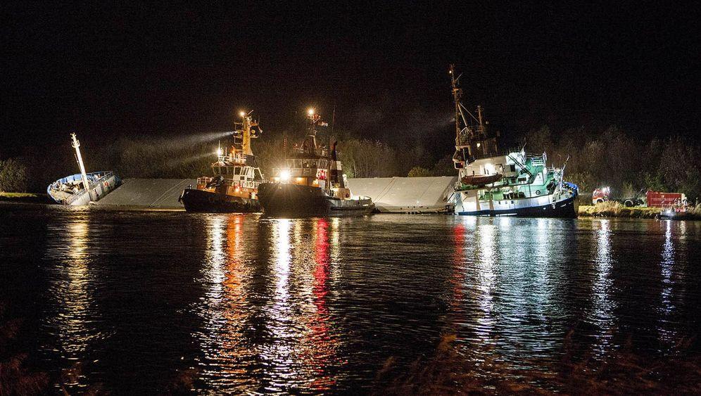 Schleswig-Holstein: Frachter kollidieren auf dem Nord-Ostsee-Kanal