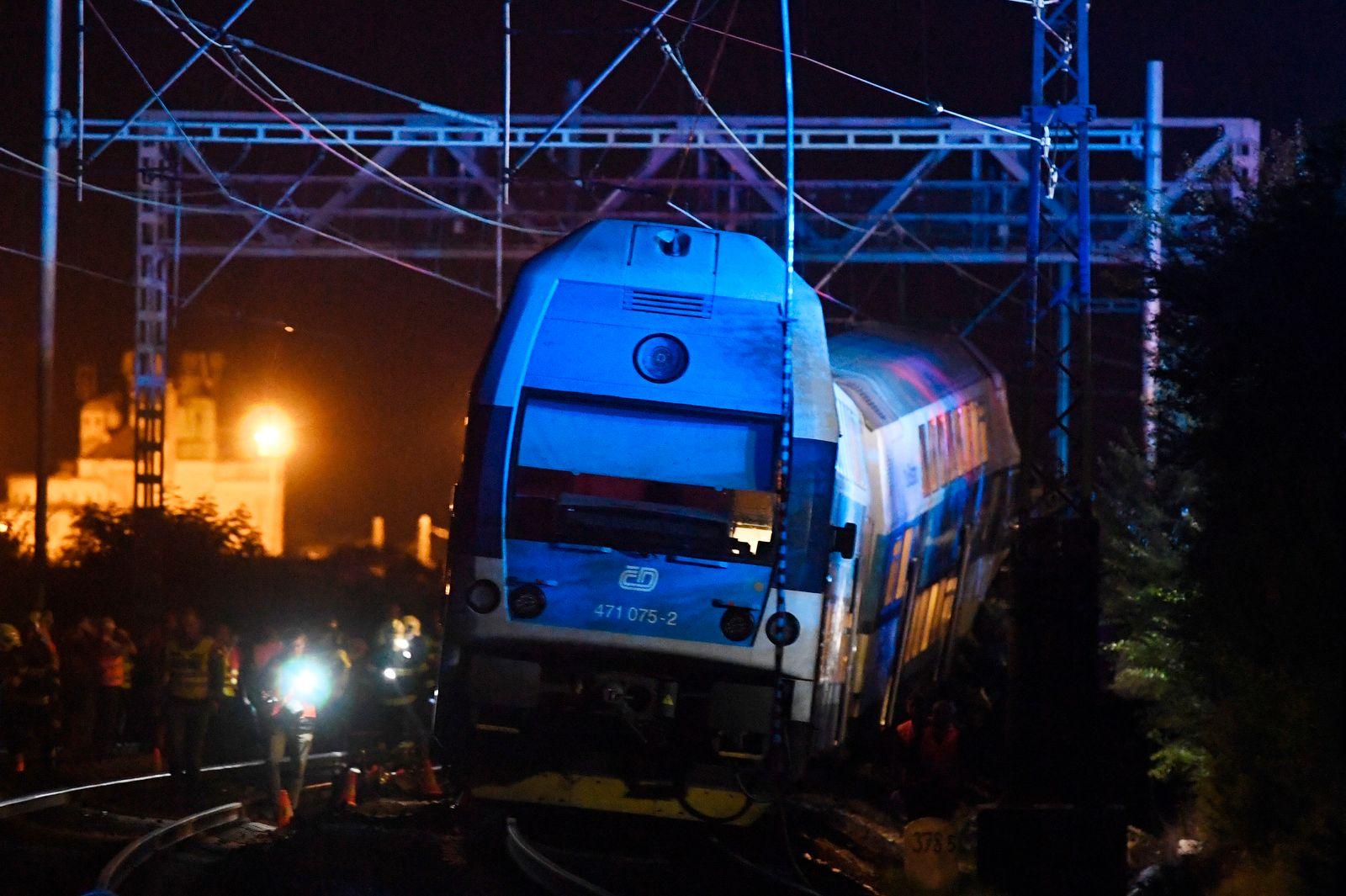 Zugunglück nahe Prag