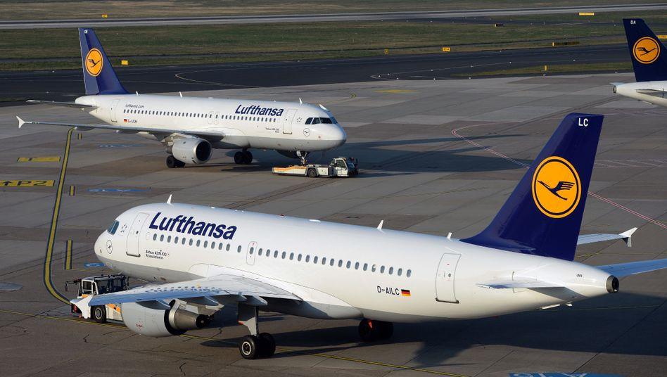 Lufthansa-Maschinen in Düsseldorf: Streik ab Mittwoch
