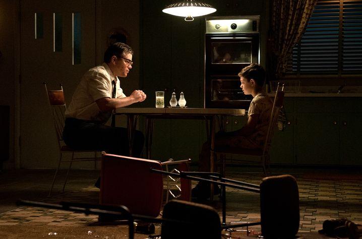 """Matt Damon und Noah Jupe in """"Suburbicon"""""""