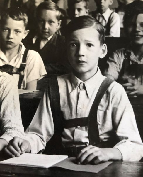 Klassenfoto: Bernd B. Liebhold mit elf Jahren