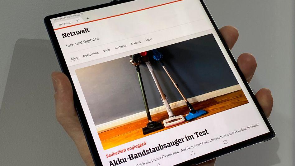 Das neue Mate Xs in Barcelona: Huawei meint, es sollte seinen Käufern 2500 Euro wert sein