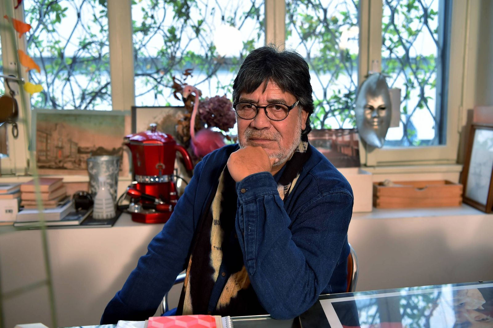Presentation of the book Storie Ribelli by Luis Sepulveda at the Franco Parenti theater, in the photo Luis Sepulveda (Du