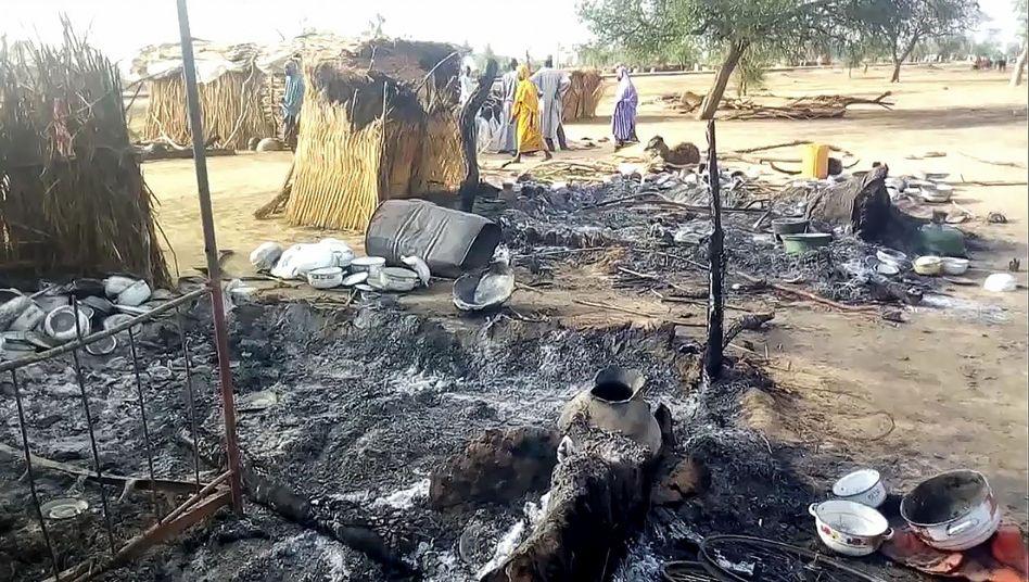 Anschlagsort in Badu, Nigeria