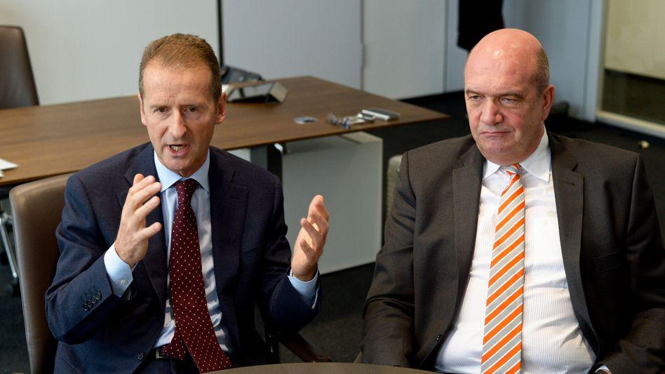 Volkswagen-Markenchef Diess, Betriebsratschef Osterloh