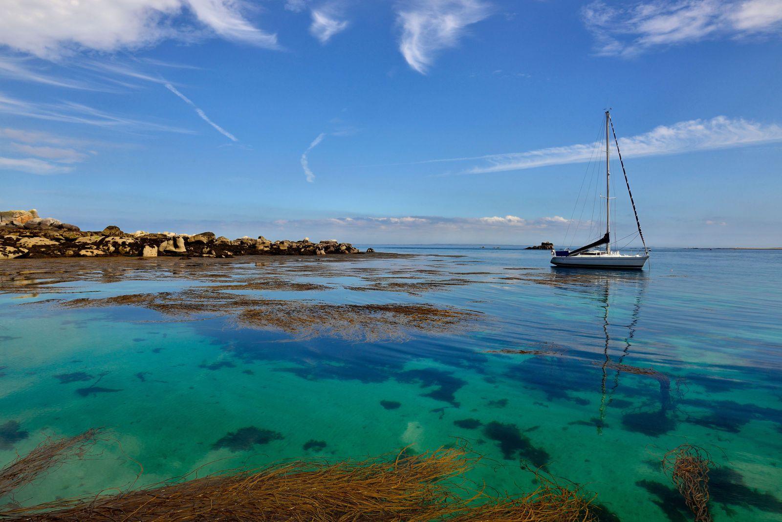Archipelago of Molene in the Iroise sea
