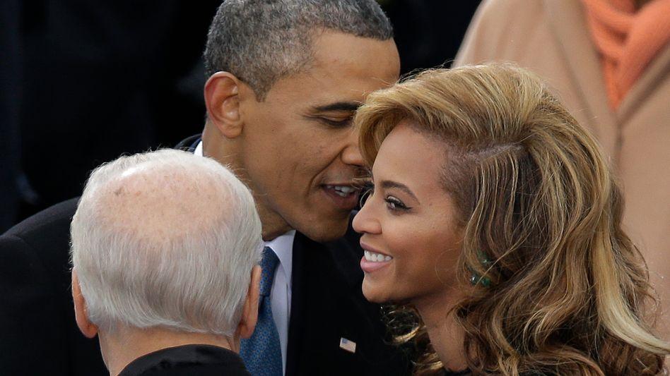 Beyoncé (mit US-Präsident Obama): Persönliche Daten veröffentlicht?
