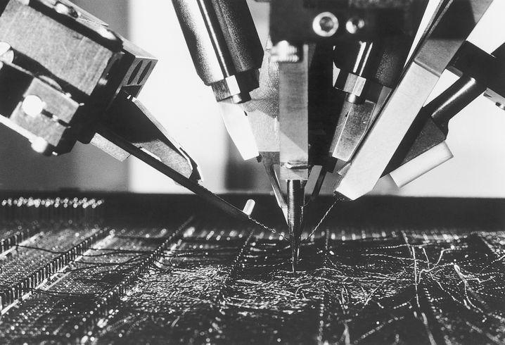Produktion des IBM 4300-Prozessors im Jahr 1979