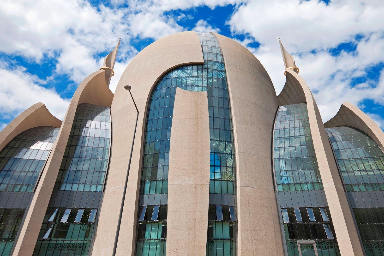 DITIB-Zentralmoschee Koeln, Deutschland, Nordrhein-Westfalen, Koeln Cologne Central Mosque, Germany, North Rhine-Westpha