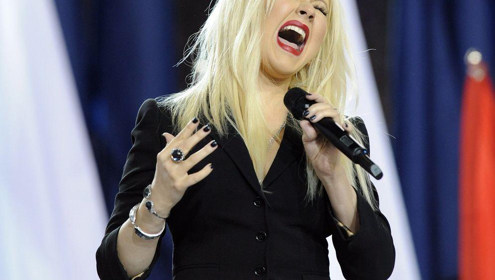 Aguilera beim Super Bowl: Einen Moment lang alles vergessen