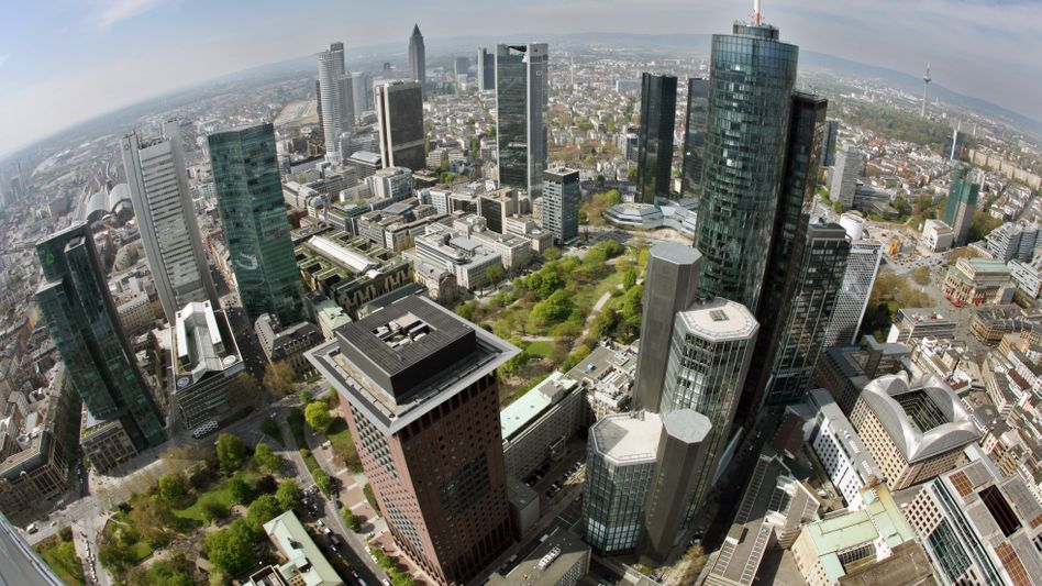 Bank skyscrapers in Frankfurt, Germany's financial capital.