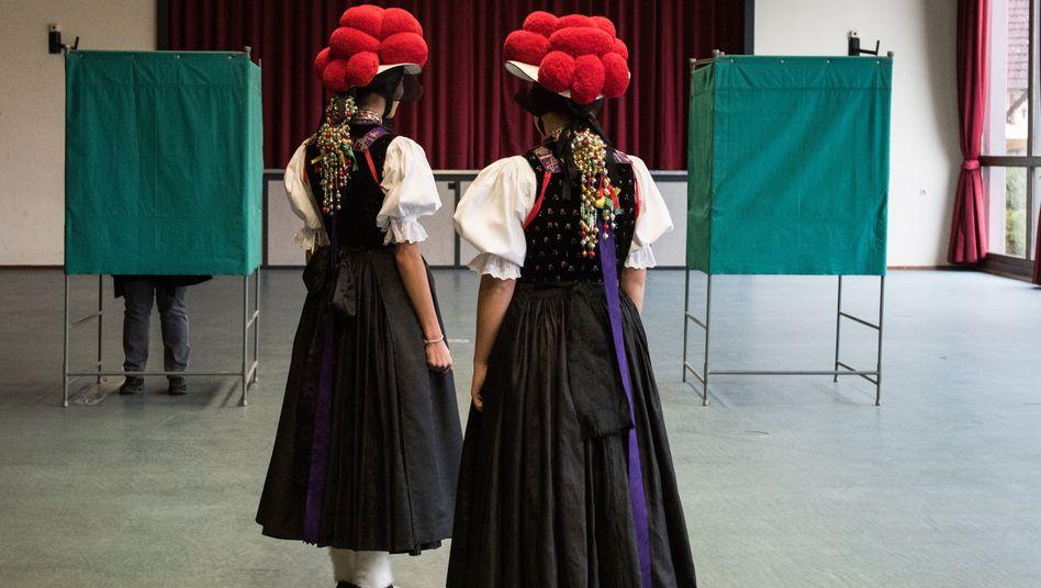 Wählerinnen in Kirnbach (Baden-Württemberg)