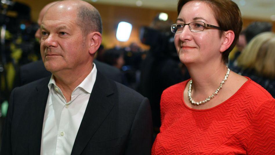 Für Olaf Scholz und Klara Geywitz war das Ergebnis des SPD-Mitgliederentscheids eine Ernüchterung