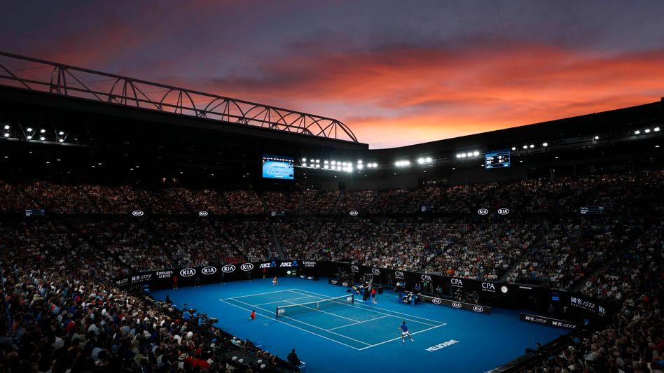 Melbourne Park, wo das Finale der Australian Open stattfinden soll - wenn das Turnier denn stattfindet