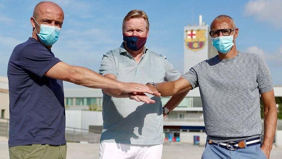 Die drei für den Umbruch: Alfred Schreuder, Ronald Koeman und Henrik Larsson (v.l.)
