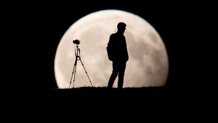 Partielle Mondfinsternis in Deutschland: Mann im Mond