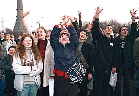Moskauer Bürger unterstützen die Proteste der NTW-Mitarbeiter