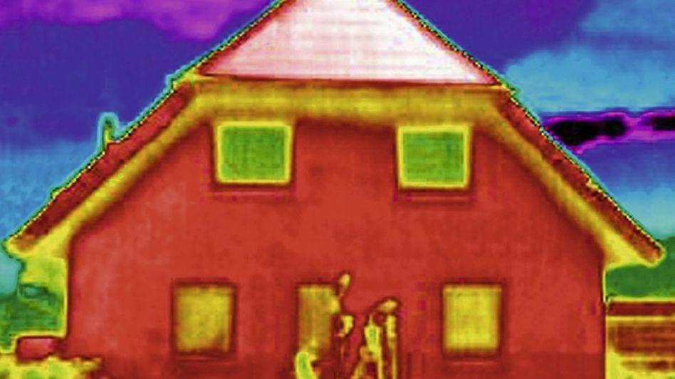 Wärmebild eines Wohnhauses