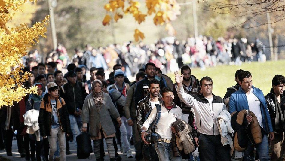 Migranten im bayerischen Wegscheid 2015: »Schreckliche Situationen«
