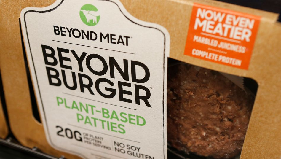 Burger von Beyond Meat im Supermarktregal