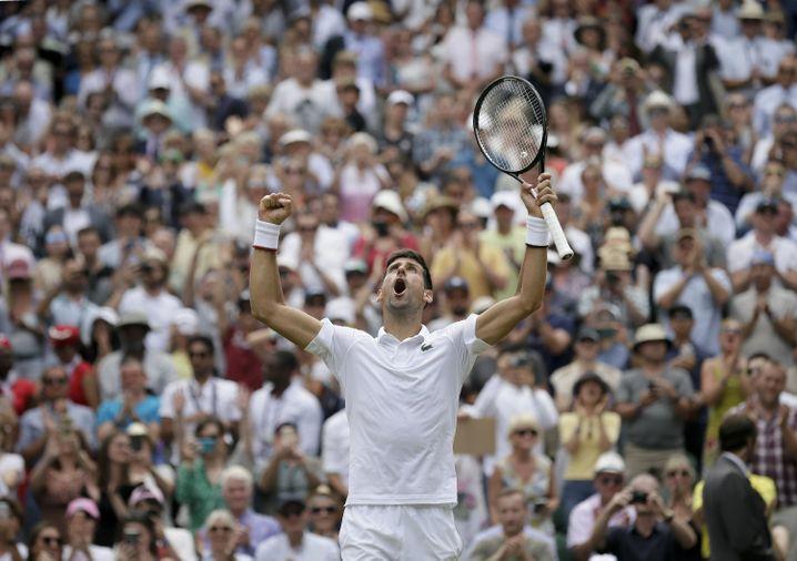 Novak Djokovic hofft in Wimbledon auf die Titelverteidigung
