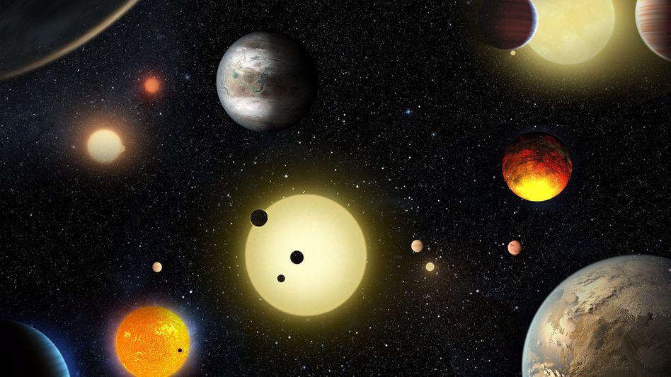 Nasa-Zeichnung der neuen Exoplaneten
