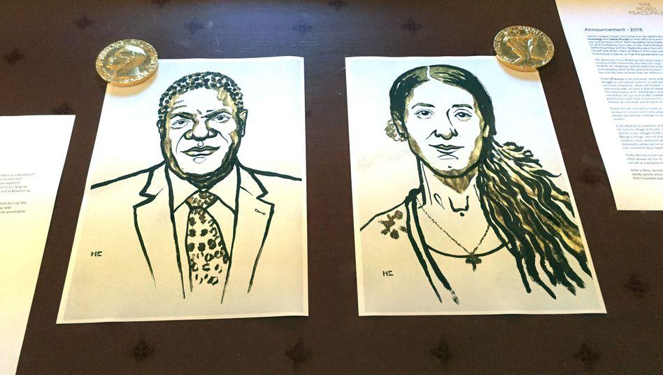 Denis Mukwege und Nadia Murad