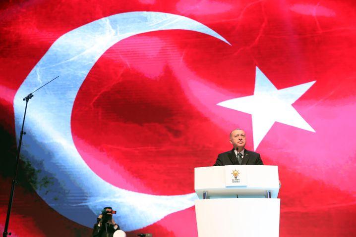 Türkischer Präsident Erdoğan (im März 2020): Harsche Kritik aus Washington