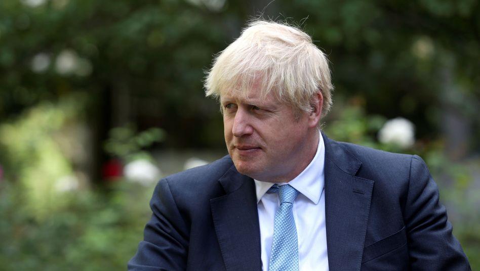 Boris Johnson bei einem Termin in London am Montag:
