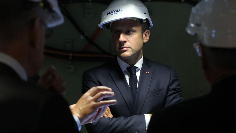 """Frankreichs Präsident Macron: """"Verstärkung unserer Fähigkeiten im Weltraum"""""""